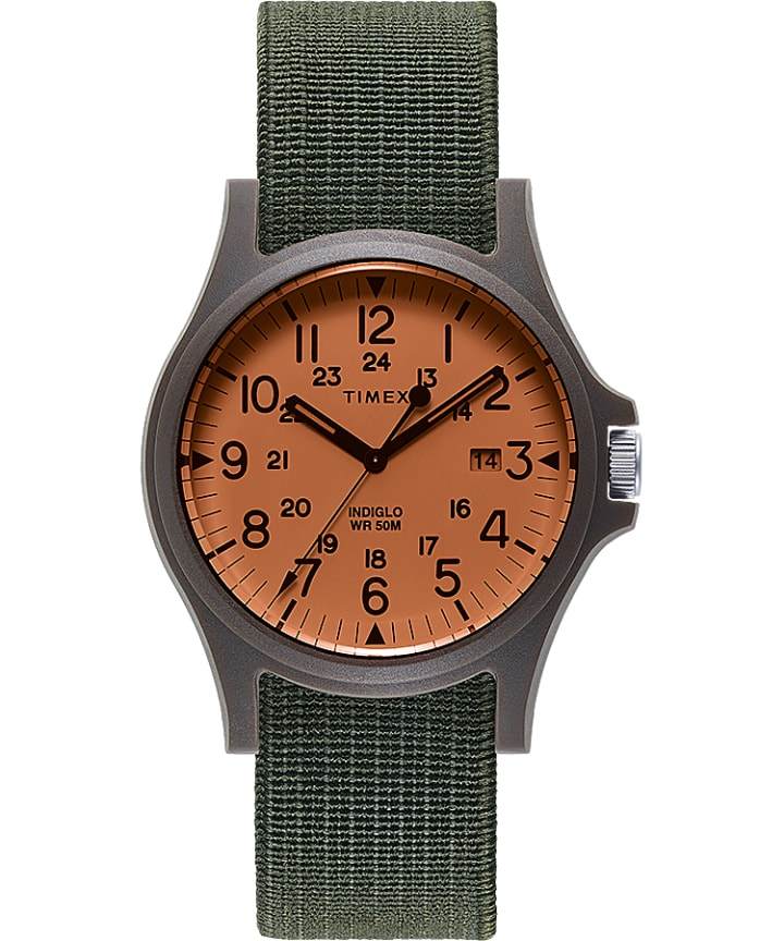 Acadia 40mm Elastic Fabric Strap Watch  large
