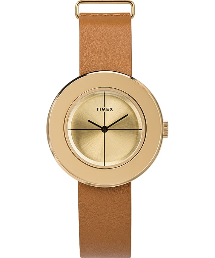 Variety 34mm Leather Strap Watch  large