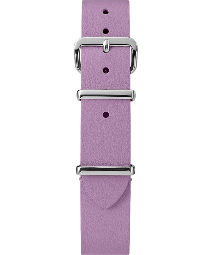 16mm Leather Slip-Thru Single Layer Strap Purple large