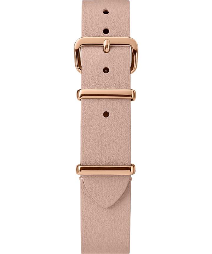 16mm Leather Slip-Thru Single Layer Strap Tan large