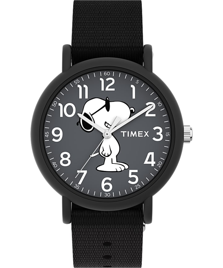 Timex x Peanuts Weekender 34mm Fabric Strap Watch  large
