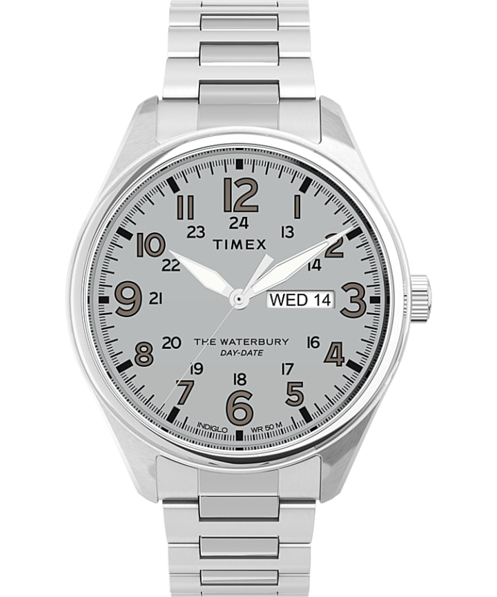 Waterbury Traditional 42mm Stainless Steel Bracelet Watch  large