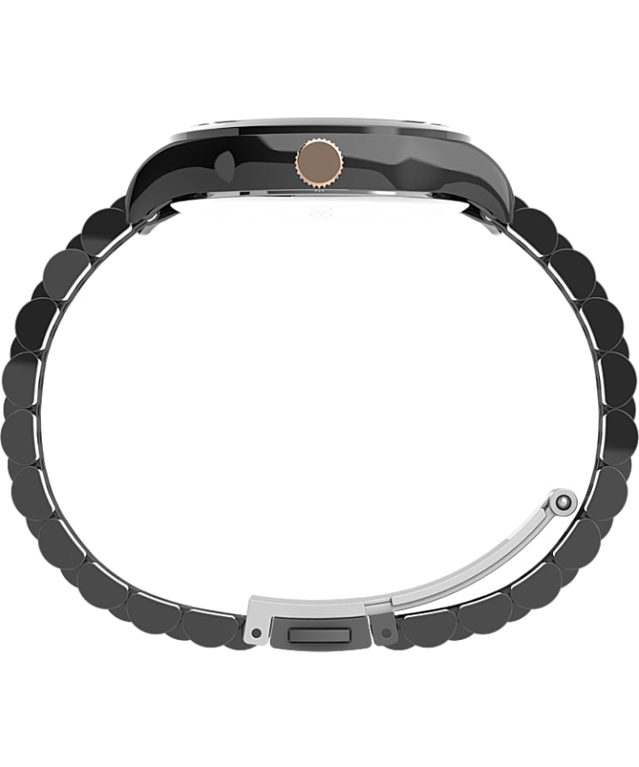 Waterbury Traditional 34mm Stainless Steel Bracelet Watch Gunmetal/Black/Rose-Gold-Tone large