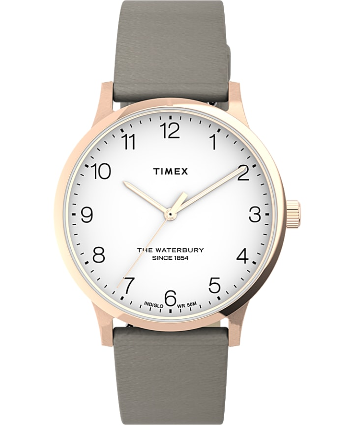 Waterbury 36mm Classic Leather Strap Watch.  large