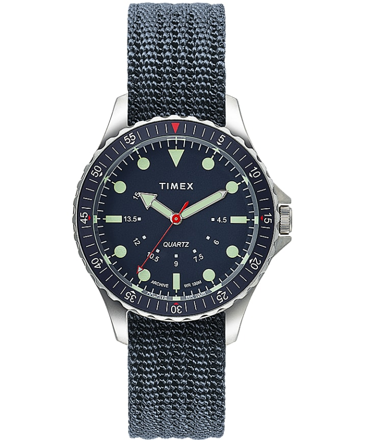 Navi Depth 38mm Fabric Strap Watch  large