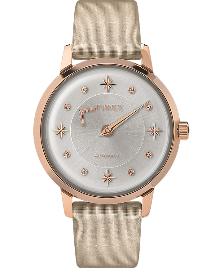 Celestial Opulence Automatic 38mm Textured Strap Watch  large