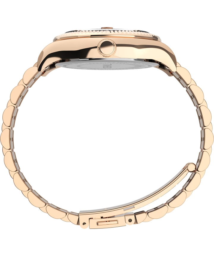 Waterbury Legacy 34mm Stainless Steel Bracelet Watch Rose-Gold-Tone large