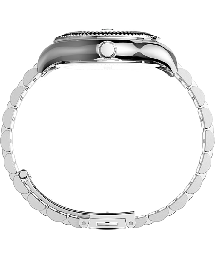 Waterbury Legacy 34mm Stainless Steel Bracelet Watch Silver-Tone/Green large