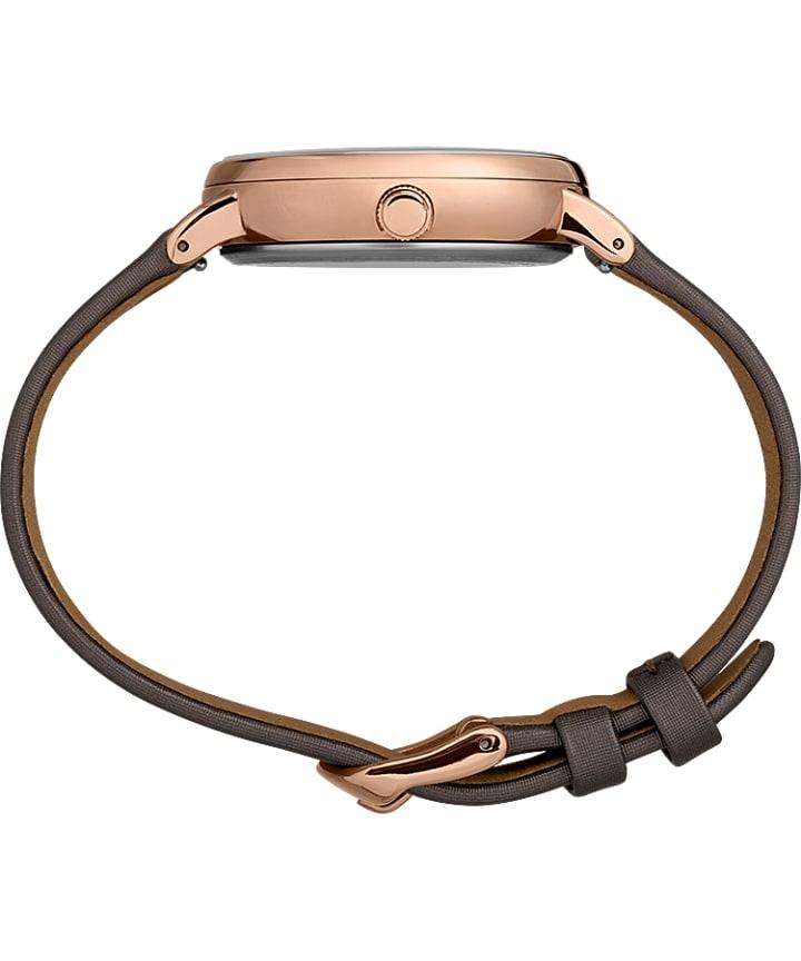 Celestial Opulence 37mm Textured Strap Watch Titanium/Brown-CAPRICORN,AQUARIUS,PISCES large