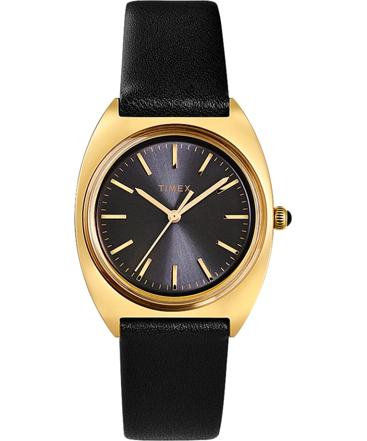 Milano 33mm Leather Strap Watch  large