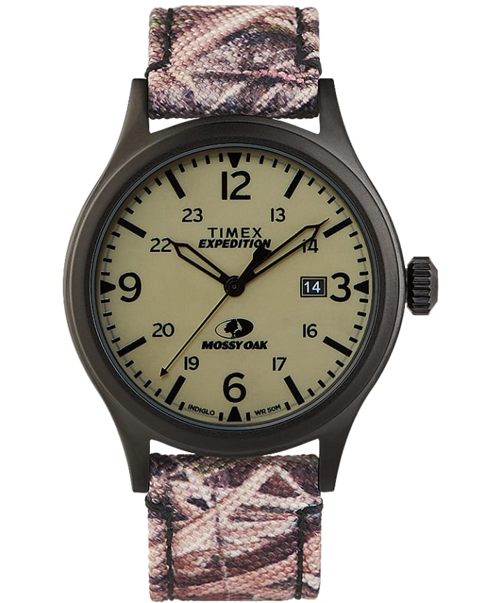 Timex x Mossy Oak Expedition Scout 40mm Fabric Strap Watch  large