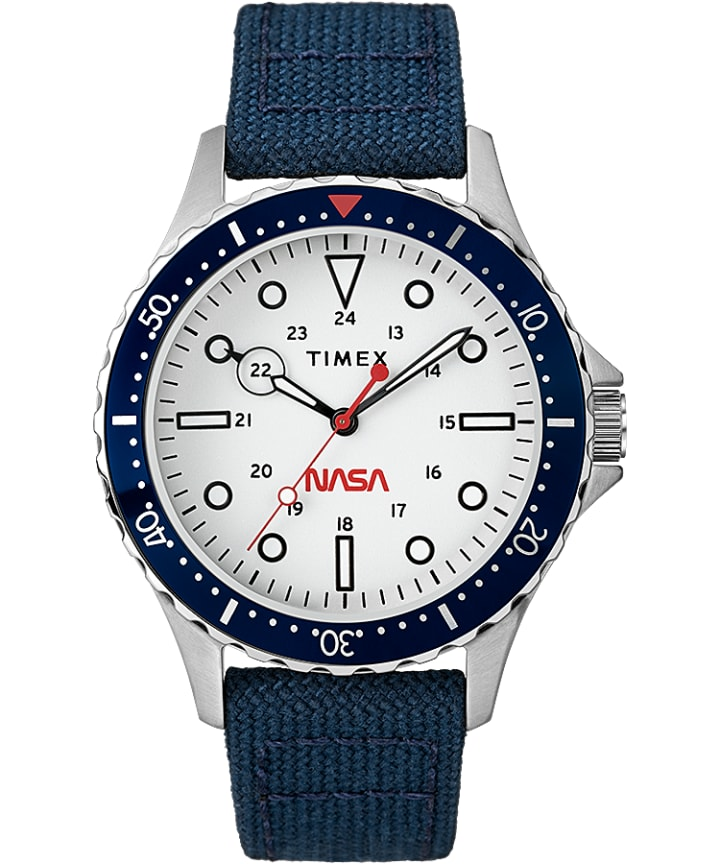Navi XL Featuring NASA on the Dial 41mm Fabric Strap Watch  large