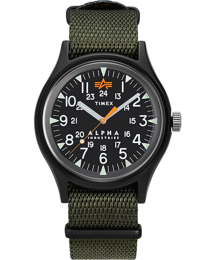 Timex x Alpha Industries 40mm Fabric Strap Watch  large