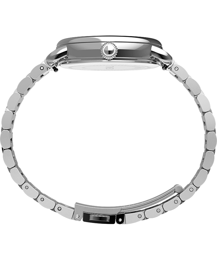 Timex® Standard 34mm Stainless Steel Bracelet Watch Silver-Tone large
