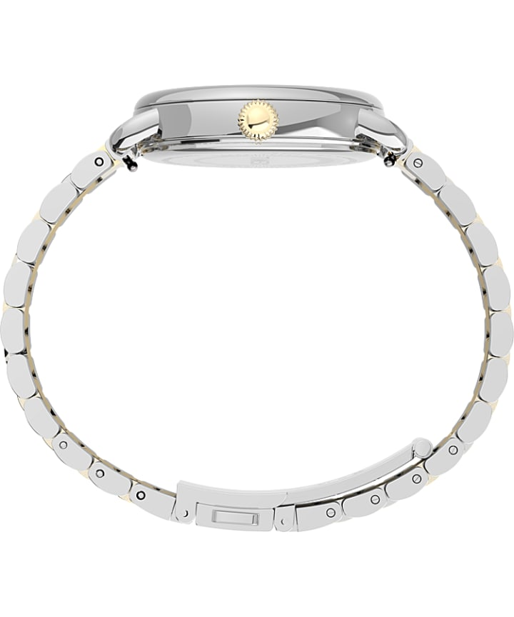 Timex® Standard 34mm Stainless Steel Bracelet Watch Silver-Tone/Two-Tone large