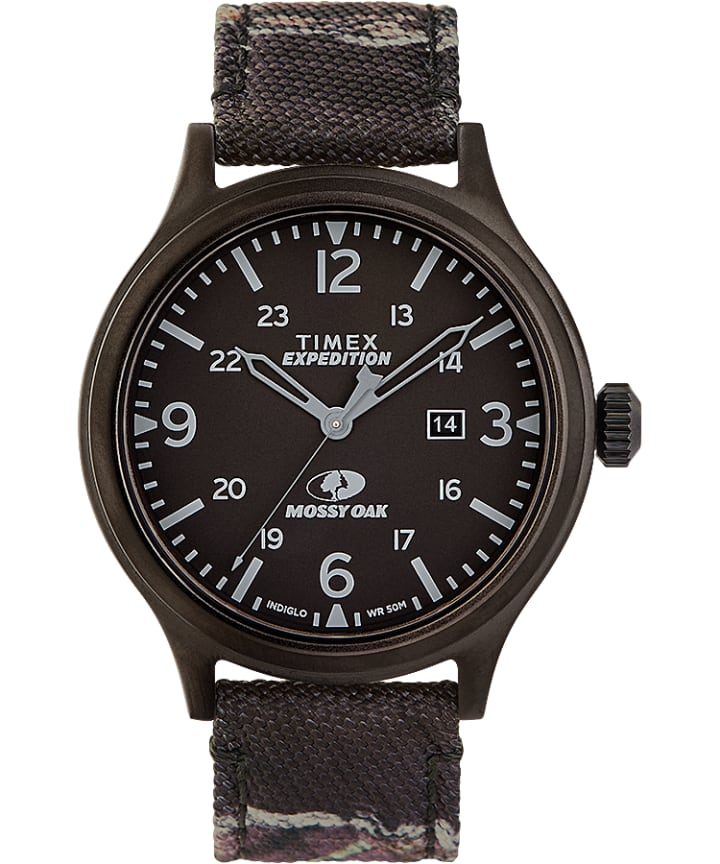Timex x Mossy Oak Expedition Scout 43mm Fabric Strap Watch  large