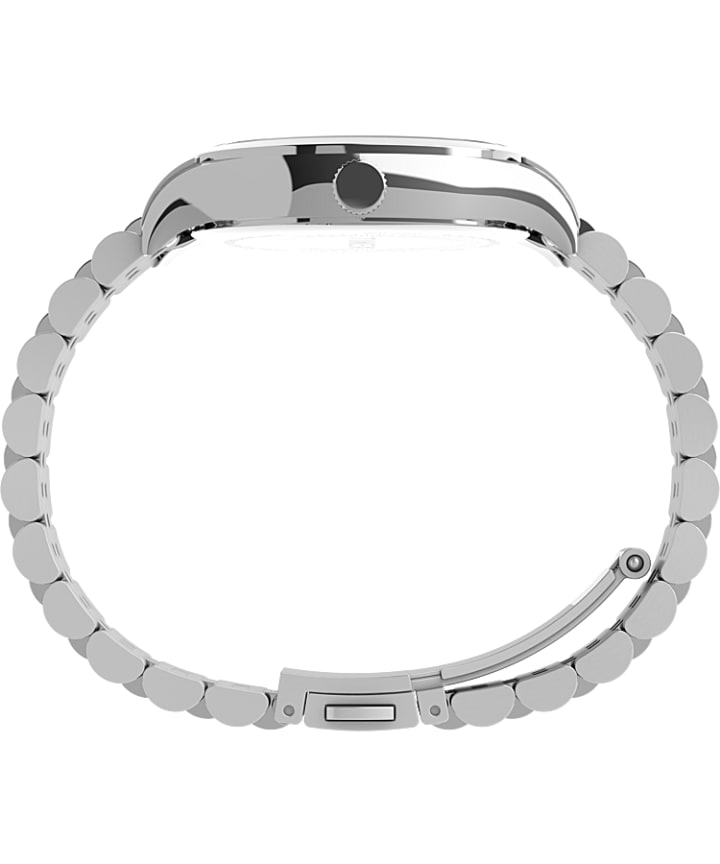 Waterbury Neon 34mm Stainless Steel Bracelet Watch Stainless-Steel/White large