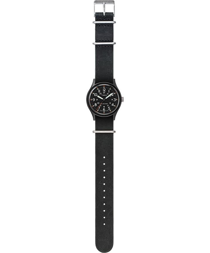 MK1 40mm Stonewashed Leather Strap Watch Black large