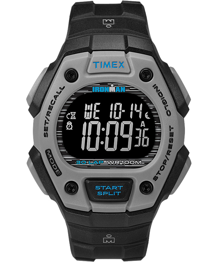 IRONMAN Classic 30 Full-Size Resin Strap Watch Black large