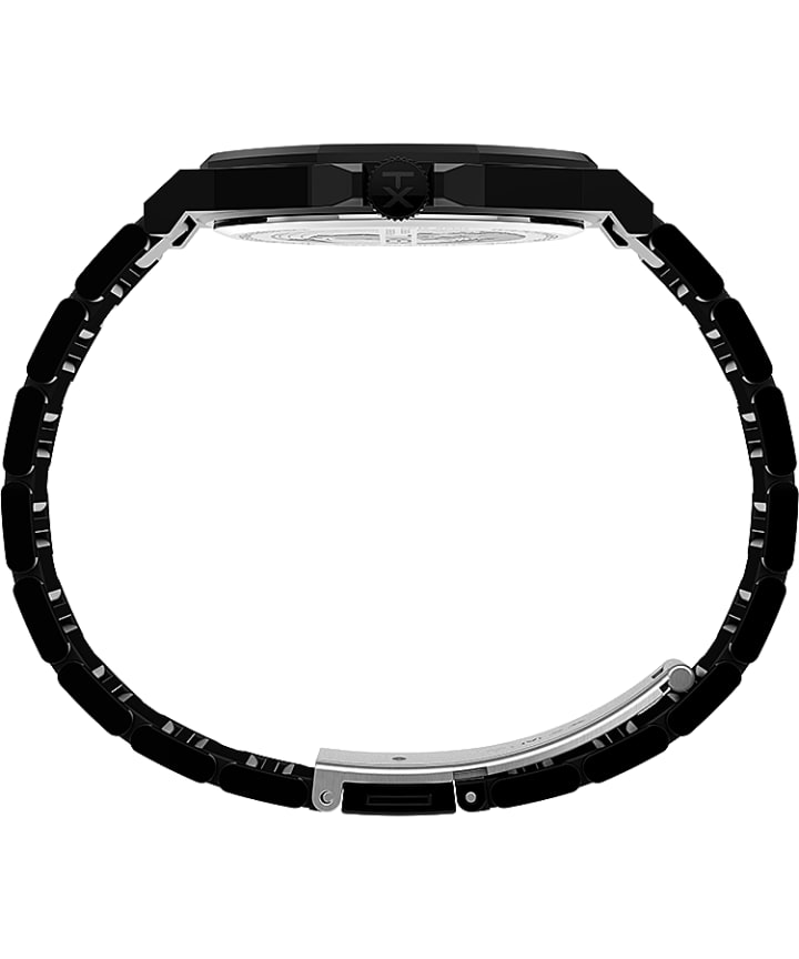 Essex Avenue Thin 40mm Stainless Steel Bracelet Watch Black large