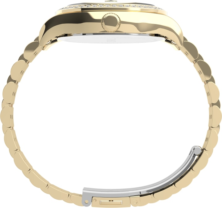 Waterbury Legacy with Swarovski® Crystals 34mm Stainless Steel Bracelet Watch Gold-Tone large