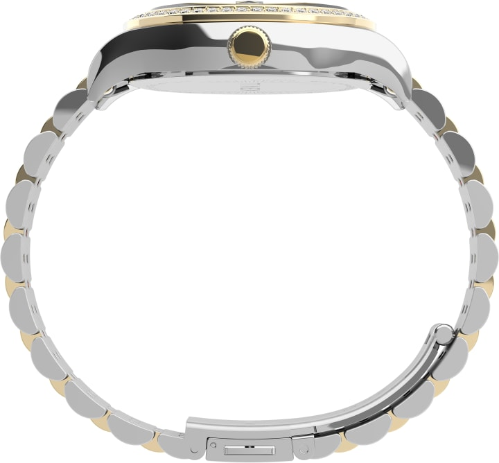 Waterbury Legacy with Swarovski® Crystals 34mm Stainless Steel Bracelet Watch Two-Tone/Silver-Tone large