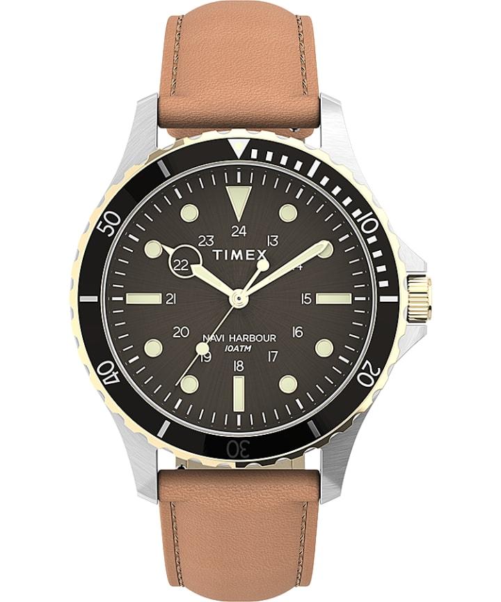 Navi XL 41mm Leather Strap Watch large