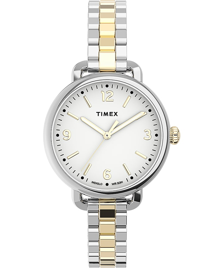 Timex Standard Demi 32mm Stainless Steel Bracelet Watch  large