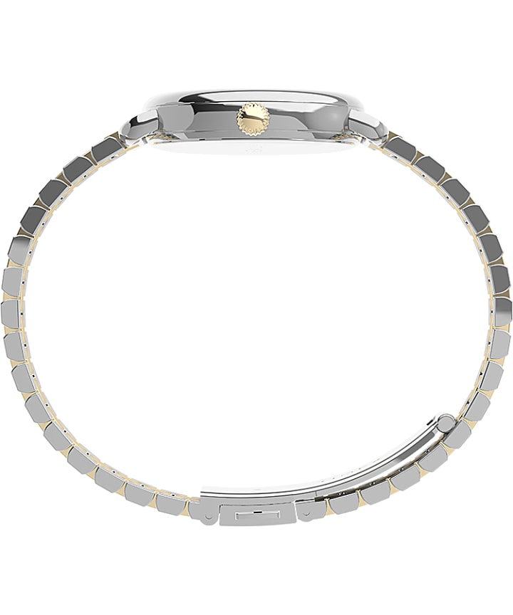 Timex Standard Demi 30mm Stainless Steel Bracelet Watch Silver-Tone/Two-Tone/White large