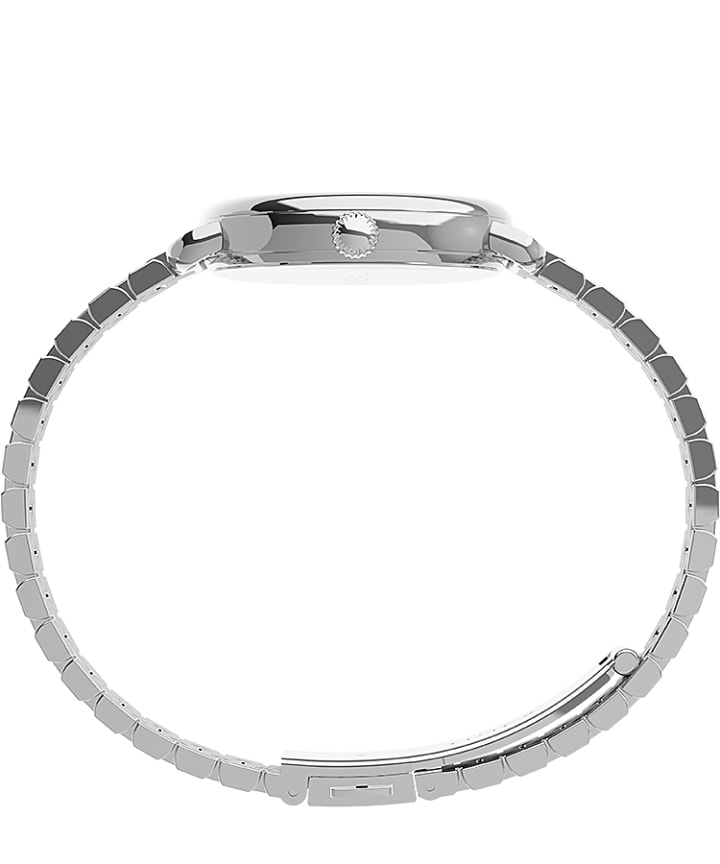 Timex Standard Demi 30mm Stainless Steel Bracelet Watch Silver-Tone/Stainless-Steel/White large