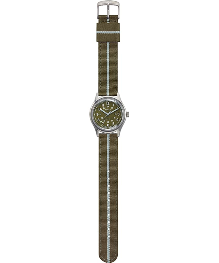 MK1 Mechanical 36mm Fabric Strap Watch Stainless-Steel/Green large