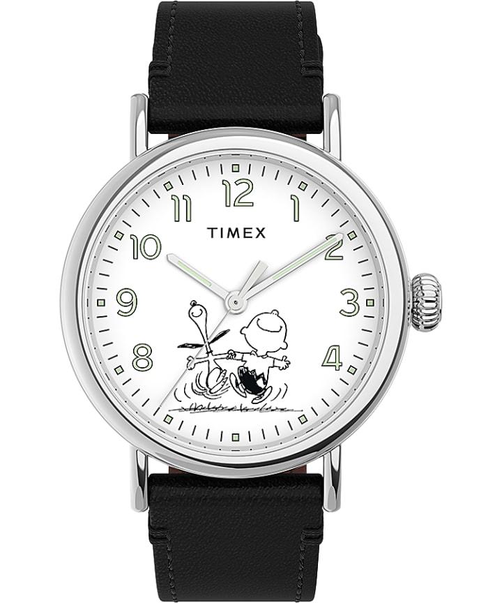 Timex Standard x Peanuts 70th Anniversary 40mm Leather Strap Watch  large