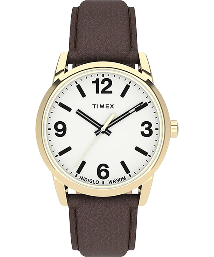 Easy Reader Bold 38mm Leather Strap Watch large