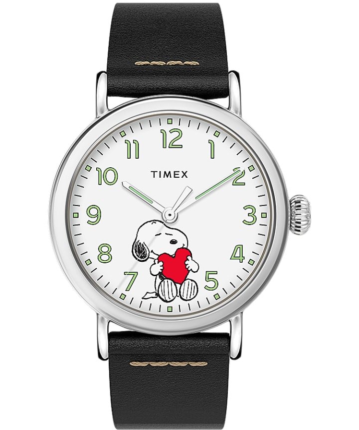 Timex x Peanuts Valentines Day Standard 40mm Leather Strap Watch  large