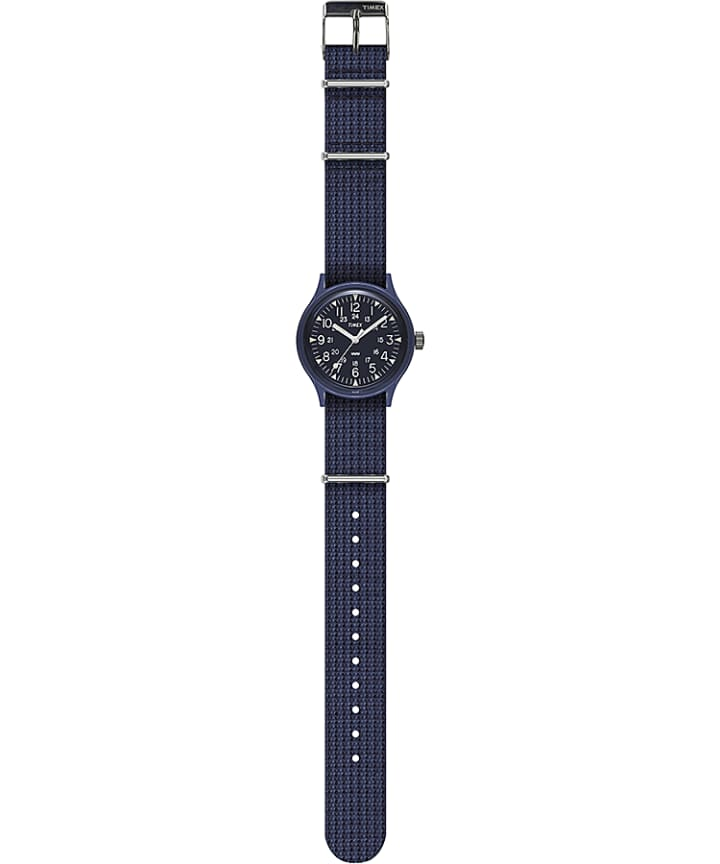 MK1 36mm Fabric Strap Watch Blue large