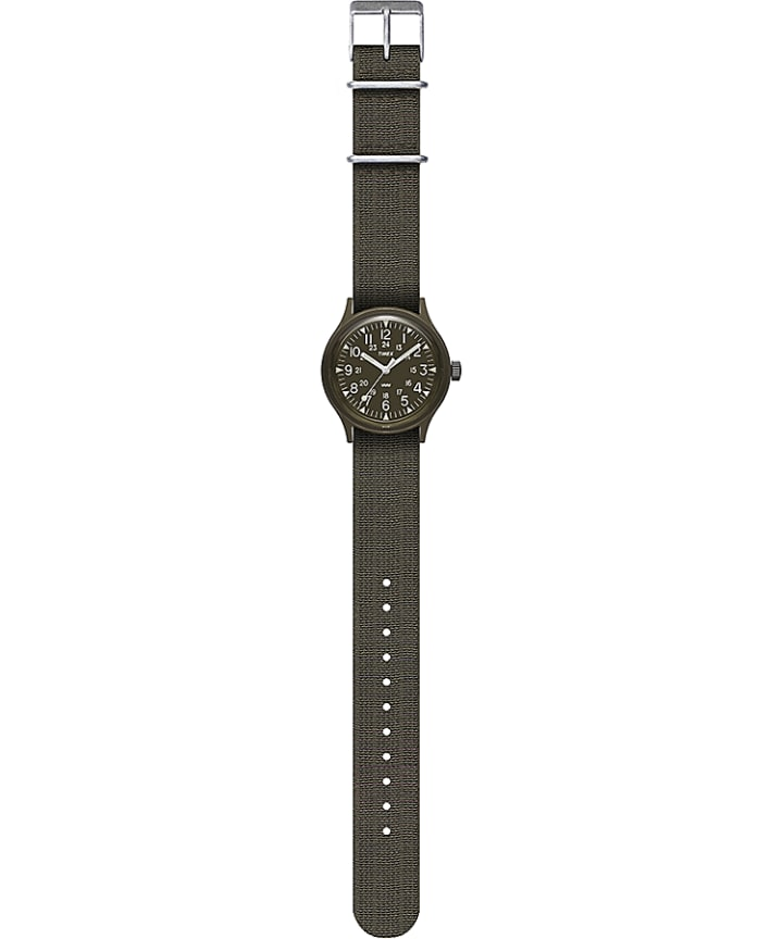 MK1 36mm Fabric Strap Watch Black/Green large