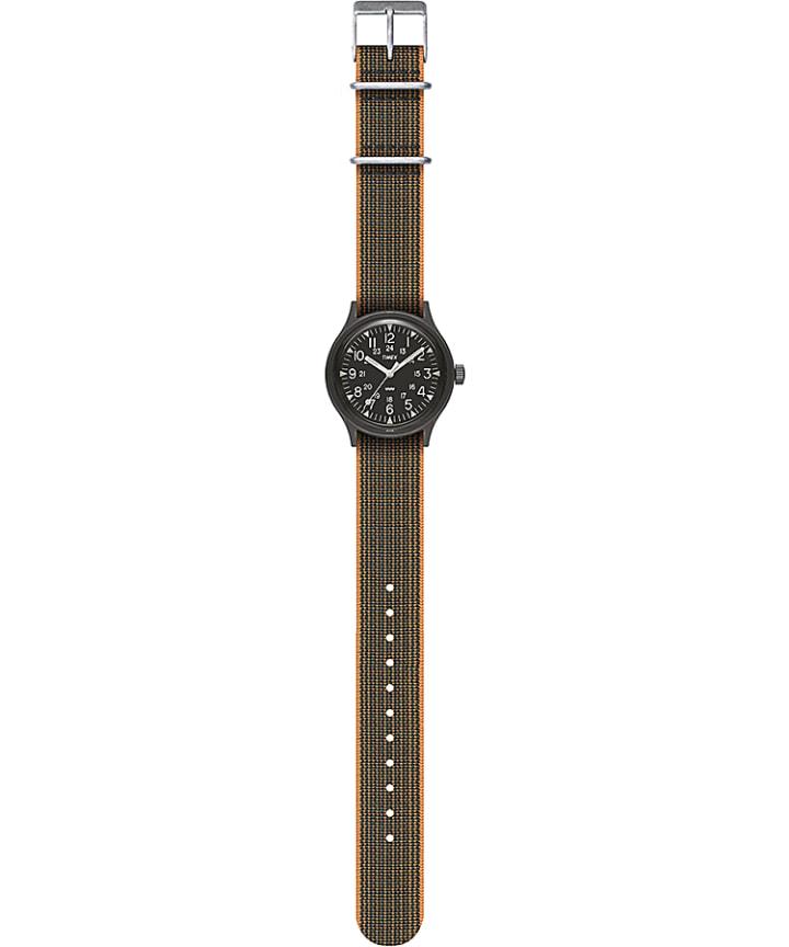 MK1 36mm Fabric Strap Watch Black large
