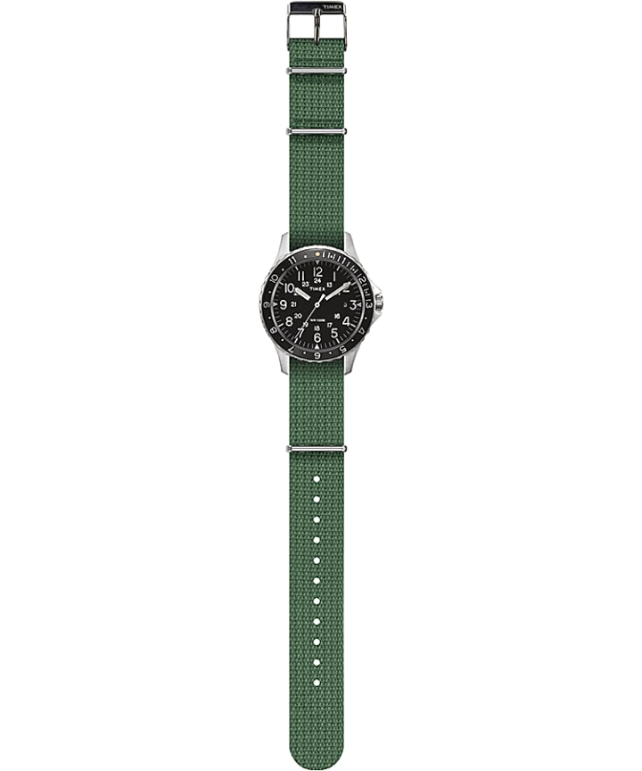 Navi Ocean 38mm Fabric Strap Watch Black/Green large