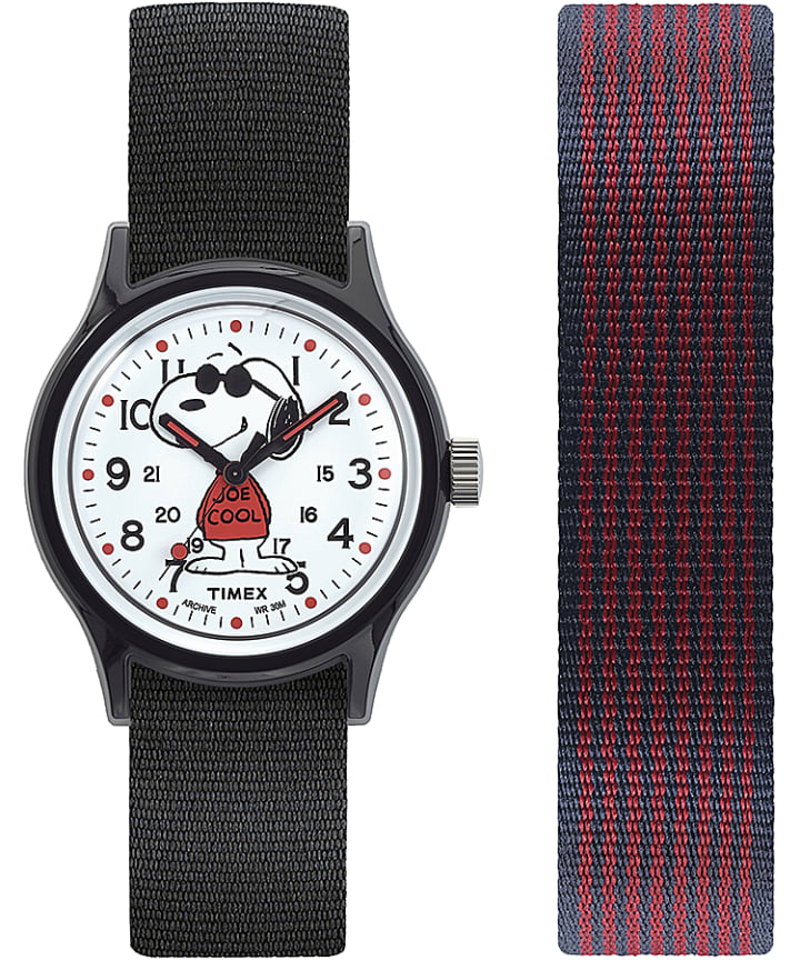 MK1 x Peanuts Featuring Snoopy 36mm Fabric Strap Watch Box Set  large