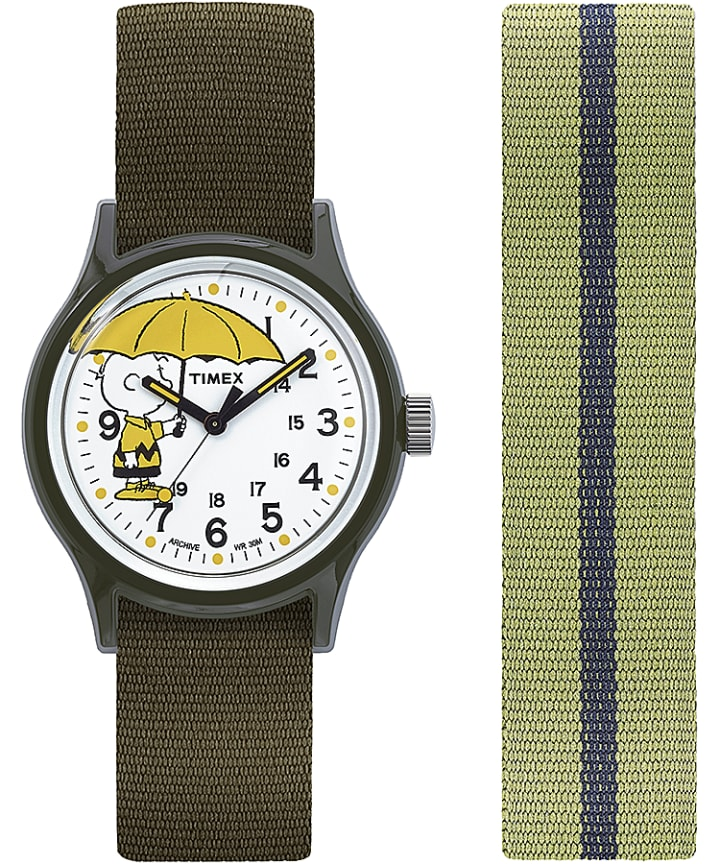 MK1 x Peanuts Featuring Charlie Brown 36mm Fabric Strap Watch Box Set  large