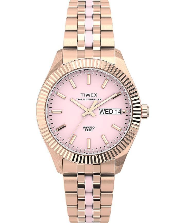 Waterbury Legacy Boyfriend 36mm Stainless Steel Bracelet Watch with Inlay  large