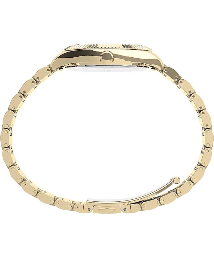 Waterbury Legacy Boyfriend 36mm Stainless Steel Bracelet Watch Gold-Tone/White large