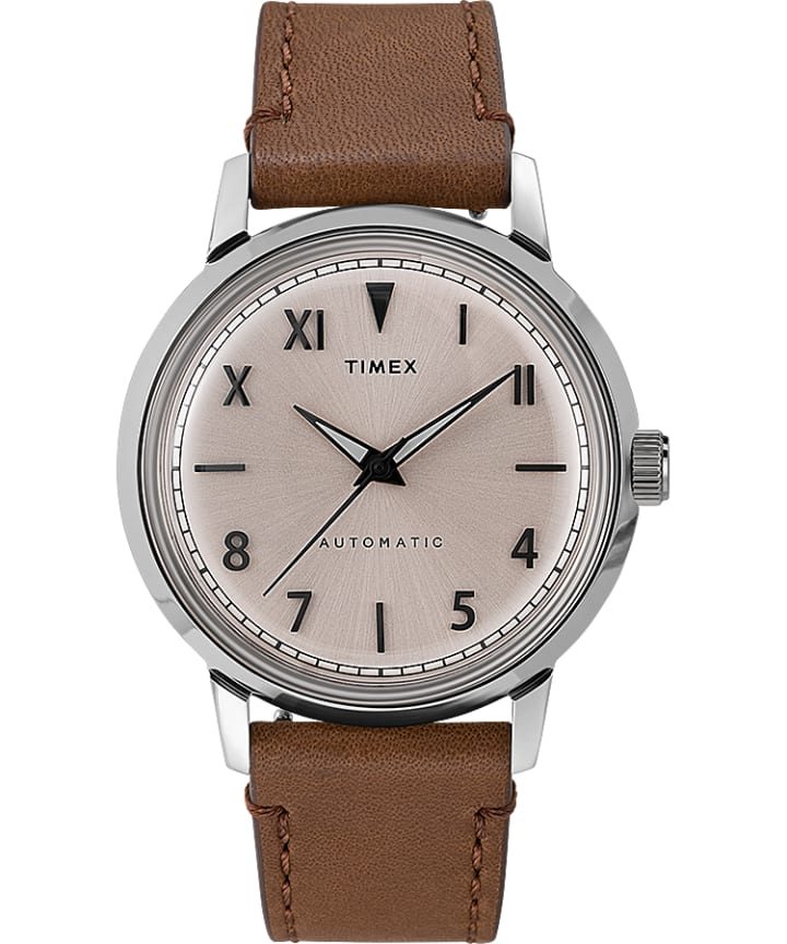 Marlin Automatic California Dial 40mm Leather Strap Watch  large