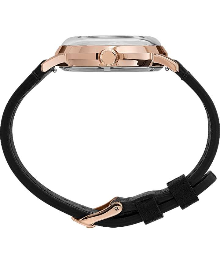 Marlin® Automatic California Dial 40mm Leather Strap Watch Rose-Gold-Tone/Black large