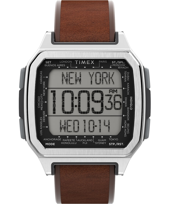 Command Urban 47mm Leather Strap Watch  large