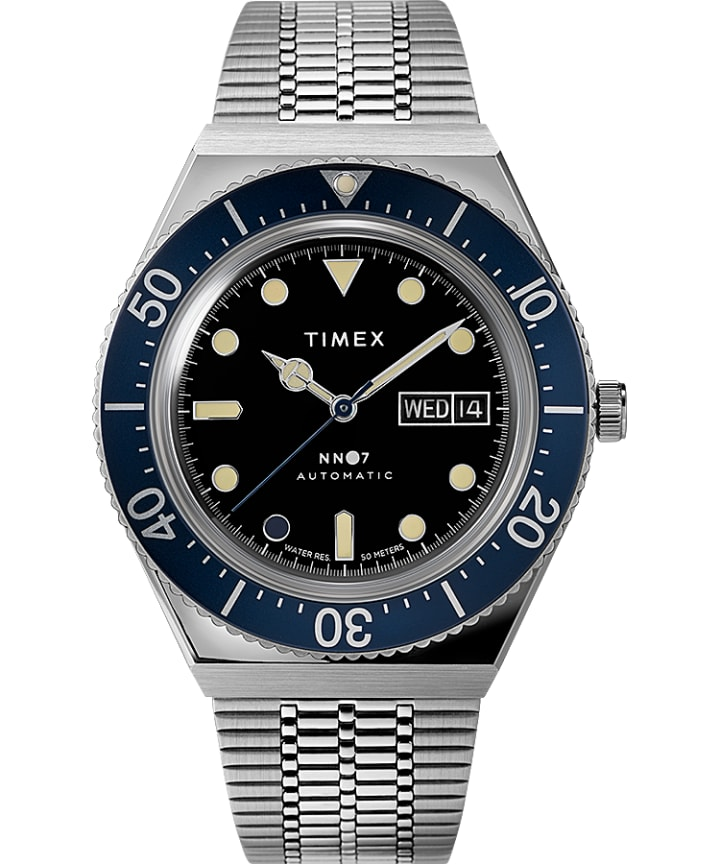 Timex x NN07 40mm Automatic Stainless Steel Bracelet Watch  large