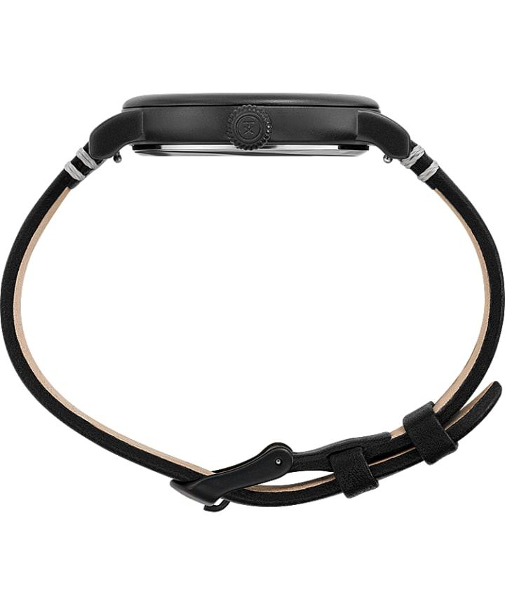 Timex Standard Dia de los Muertos 40mm Leather Strap Watch Black/Black/Black large