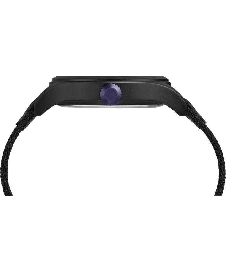 Timex x Ghostly 40mm Fabric Strap Watch Black/Black large