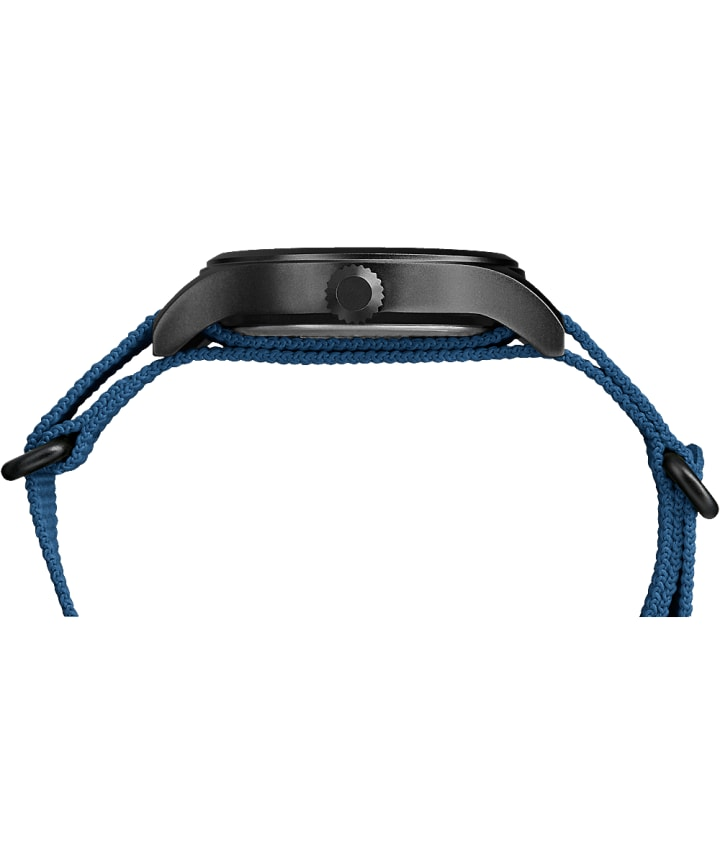 Expedition Scout 40mm Fabric Strap Watch Black/Blue large
