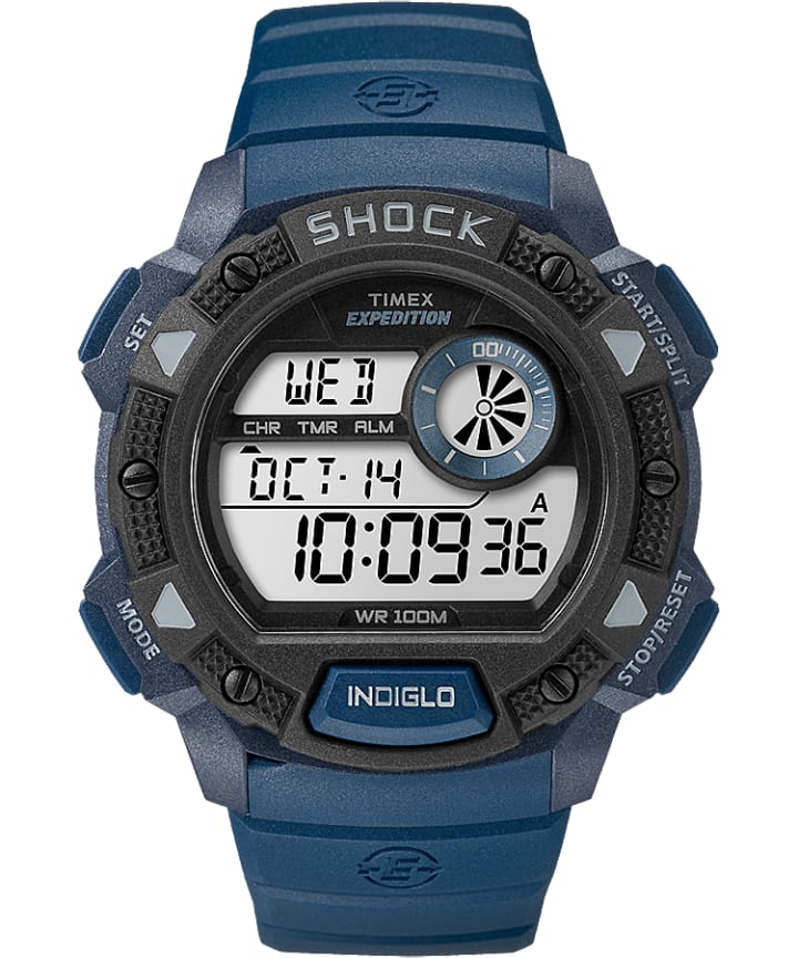 Expedition Base Shock Gauge 45mm Resin Strap Watch  large